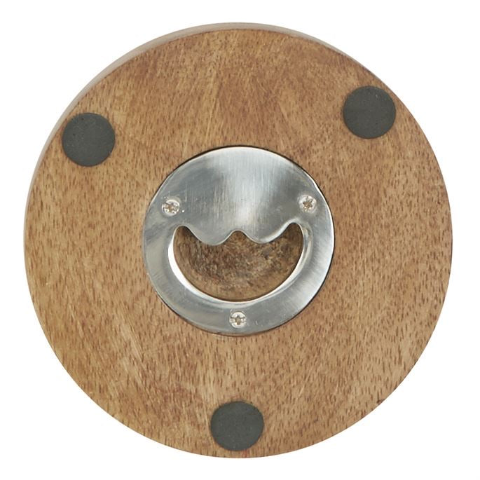 Wood Coaster with Opener