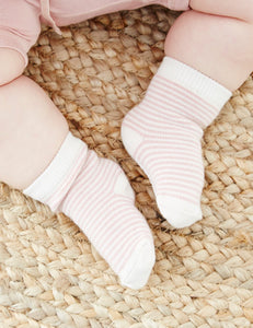 Baby Socks Rose Stripe - Boody Baby