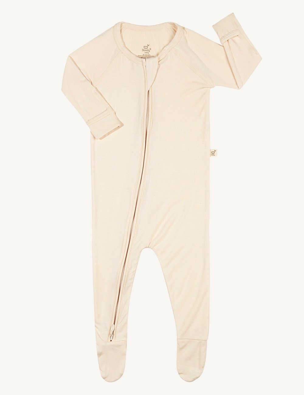 Baby Long Sleeve Onesie Chalk - Boody Baby