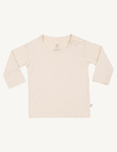 Baby Long Sleeve Top Chalk - Boody Baby