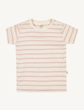 Baby Stripe T-Shirt Chalk/Rose - Boody Baby