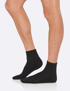 Men's Quarter Crew Sports Sock Black - Boody Eco Wear