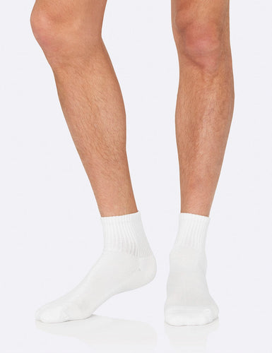 Men's Quarter Crew Sports Sock White - Boody Eco Wear