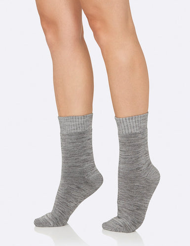 Women's Crew Boot Socks Grey Space Dye - Boody Eco Wear