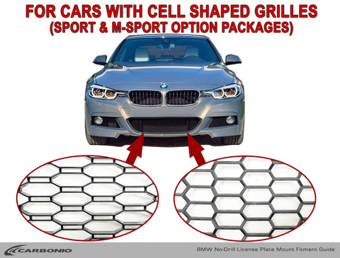 For cars with cell shaped grilles