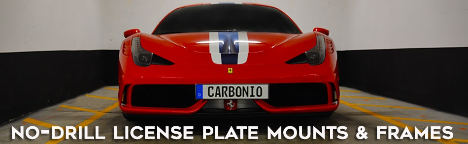 No-Drill License Plate Mounts & Holders by Carbonio