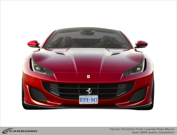Ferrari Portofino No-Drill Front License Plate Mount