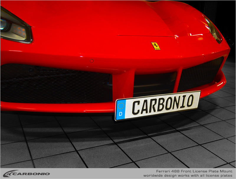 Ferrari F488 License Plate Mount