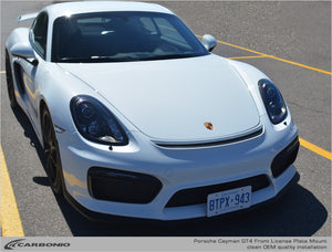 Porsche Cayman GT4 License Plate Mount