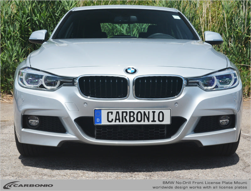 BMW No-Drill Front License Plate Mount: For Vehicles with M-Sport packages, or 'Cell' opening Grill: 2005-Present