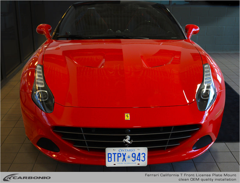 Ferrari California T License Plate Mount Carbonio