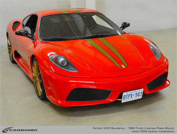 Ferrari F430 Scuderia & 16M License Plate Mount