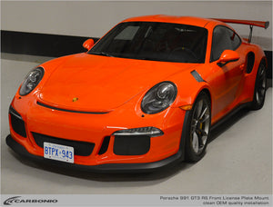 Porsche 991 & 991.2 GT3, GT3 RS, GT2 RS, & Speedster No Drill License Plate Mount