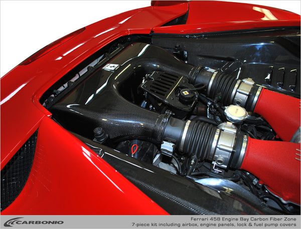 Ferrari 458 Engine Bay Carbon Zone