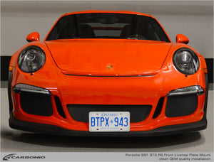 Porsche 991 & 991.2 GT3, GT3 RS, GT2 RS, & Speedster License Plate Mount