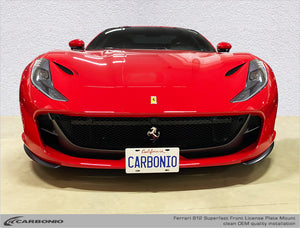 Ferrari 812 Superfast License Plate Mount