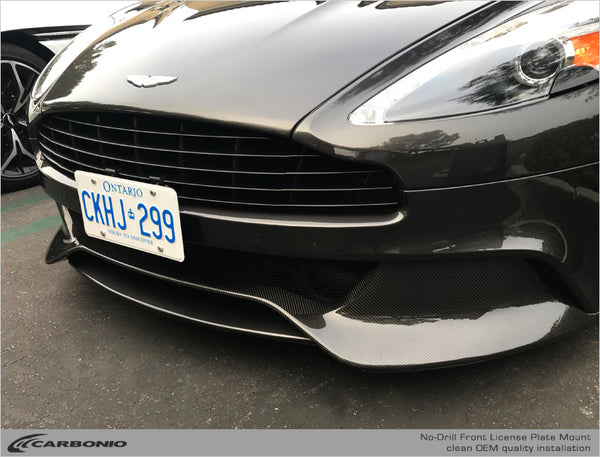 Aston Martin Vanquish No-Drill Front License Plate Mount