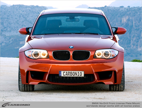 BMW 1M No-Drill Front License Plate Mount 2011-2012