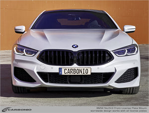 BMW 8-Series No-Drill Front License Plate Mount 2018-2020