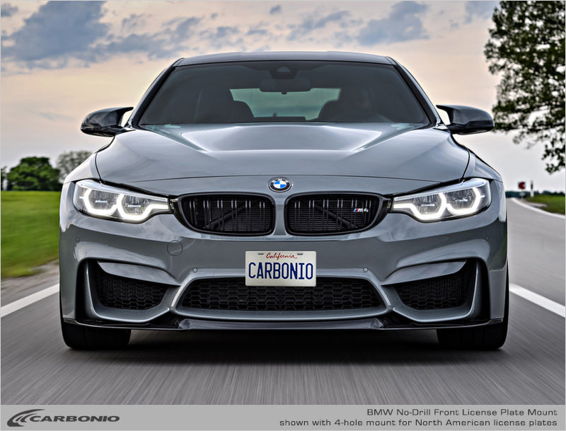 Bmw M4 No Drill Front License Plate Mount Carbonio