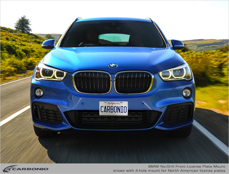 Bmw X1 No Drill Front License Plate Mount Carbonio