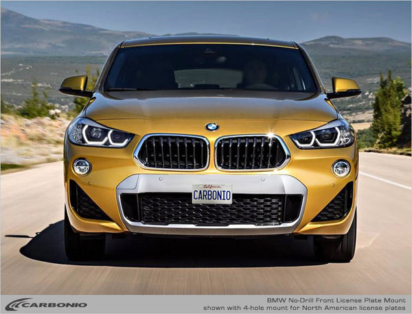 BMW X2 No-Drill Front License Plate Mount 2017-2020