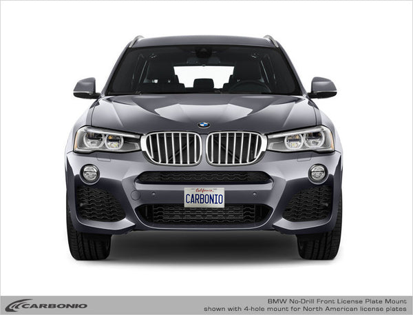 BMW X3 No-Drill Front License Plate Mount 2018-2020