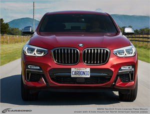 BMW X4 No-Drill Front License Plate Mount 2014-2020