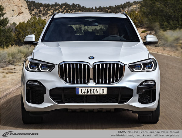 BMW X5 No-Drill Front License Plate Mount 2013-2020