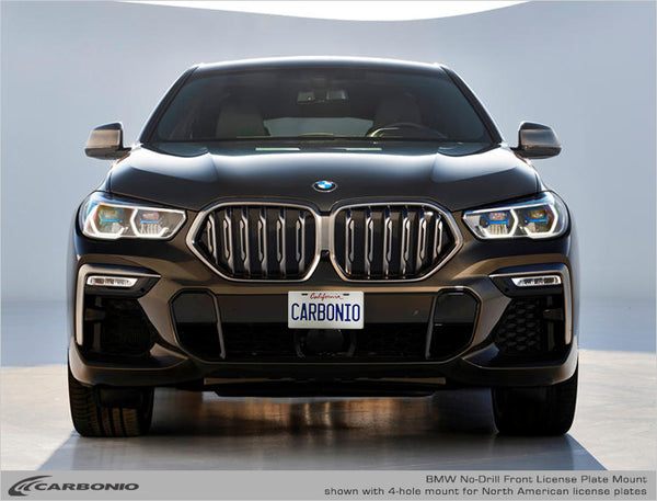 BMW X6 No-Drill Front License Plate Mount 2015-2019