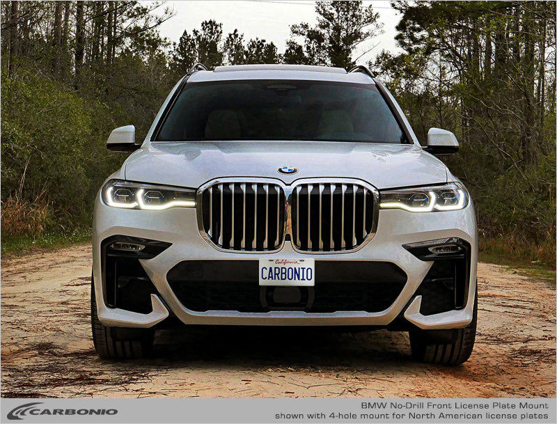 Bmw X7 No Drill Front License Plate Mount Carbonio