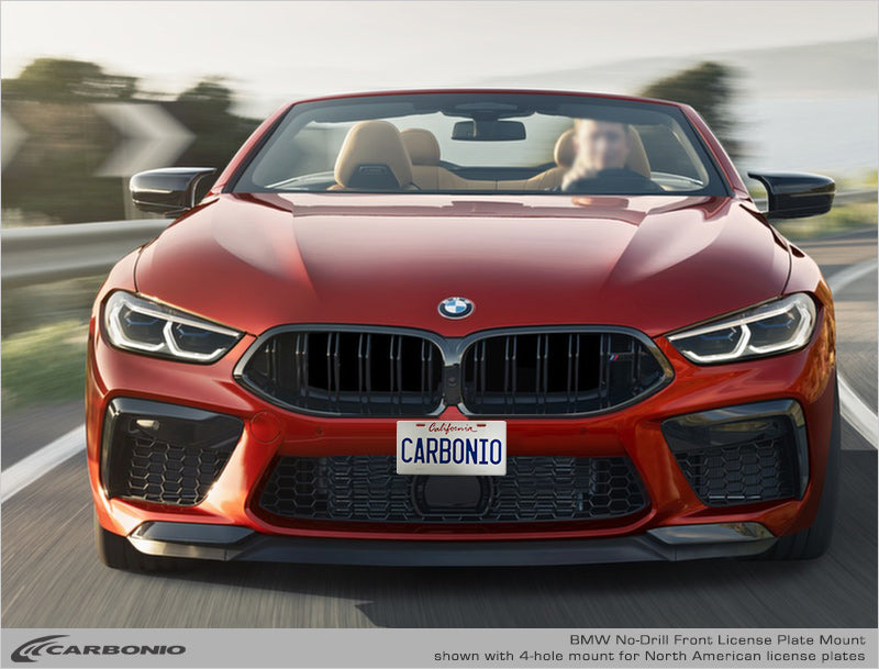 Bmw M8 No Drill Front License Plate Mount Carbonio