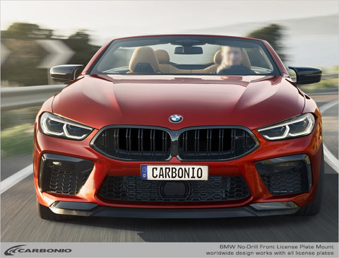 BMW M8 No-Drill Front License Plate Mount 2019-2020