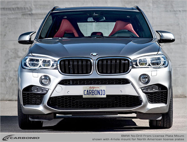 BMW X Series M  (X3 M, X4 M, X5 M, X6 M) No-Drill Front License Plate Mount