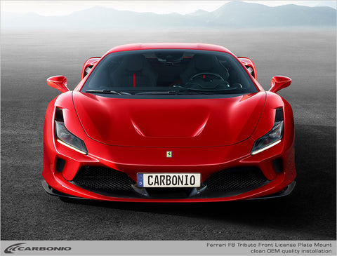 Ferrari F8 Tributo License Plate Mount (PRE-ORDER)