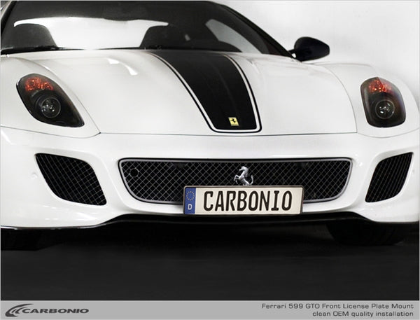 Ferrari 599 GTO License Plate Mount
