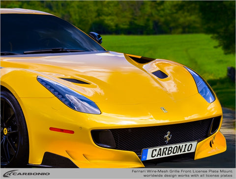 Ferrari F12 TDF License Plate Mount