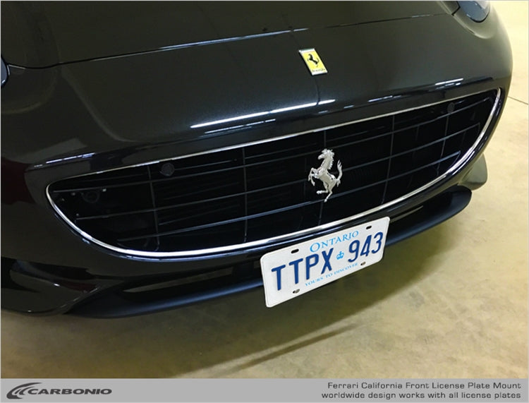 Ferrari California License Plate Mount Carbonio