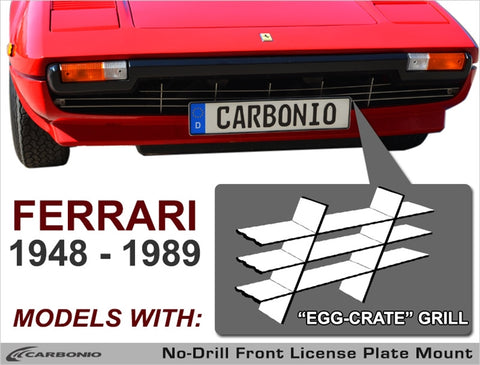 1948 - 1989 Ferrari Models License Plate Mount