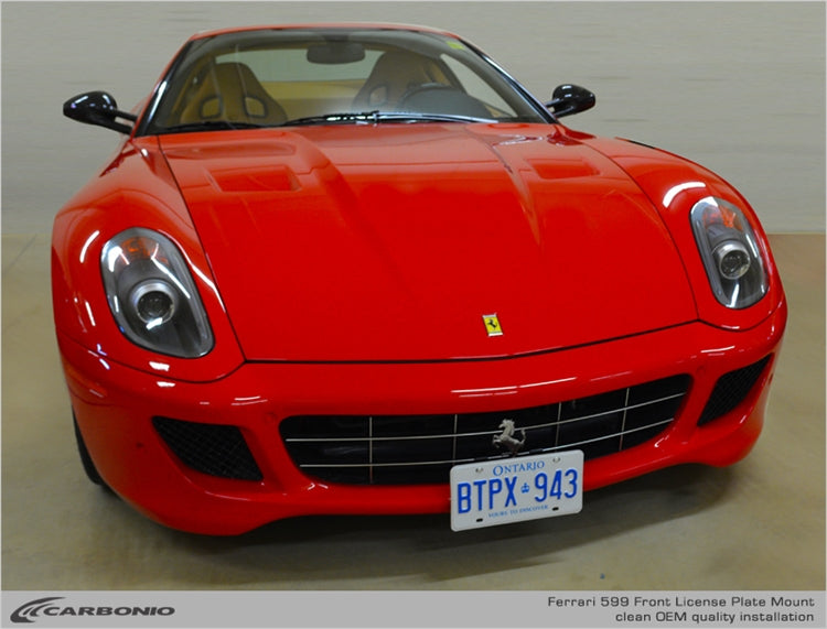 Ferrari 599 License Plate Mount
