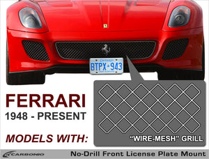 1948 - Present: Ferrari License Plate Mount (for wire-mesh grille)