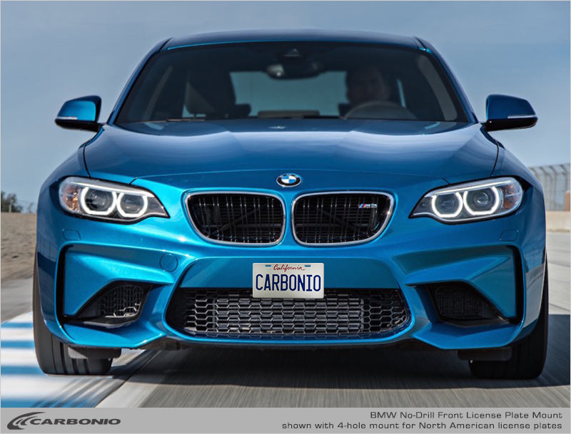 Bmw M2 No Drill Front License Plate Mount Carbonio