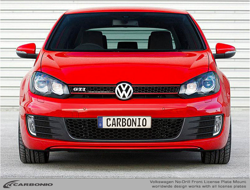 VW Golf / Jetta / GTI /  GLI/ R / Alltrack  No-Drill Front License Plate Mount (MK6)  2008-2012