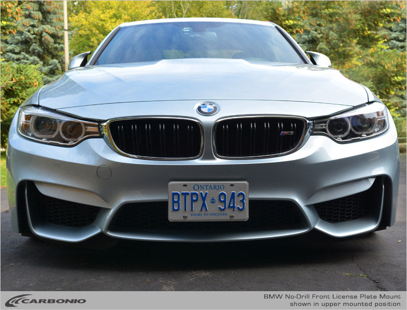 Bmw M3 No Drill Front License Plate Mount Carbonio