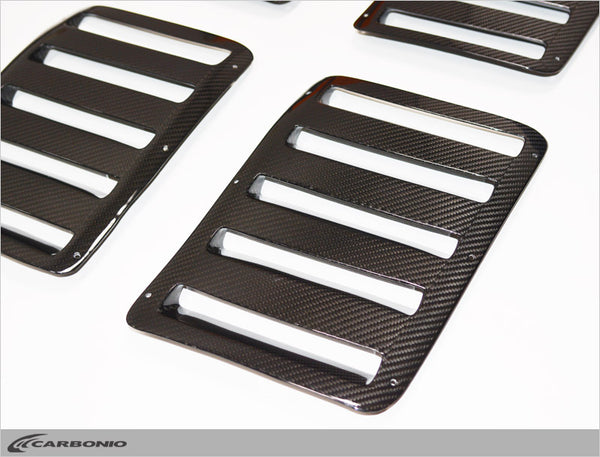 Radical SR3 RS & SR8 RS Carbon Fiber Louvers SET OF 4 (LIMITED AVAILABILITY)