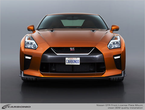 Nissan GTR No-Drill Front License Plate Mount
