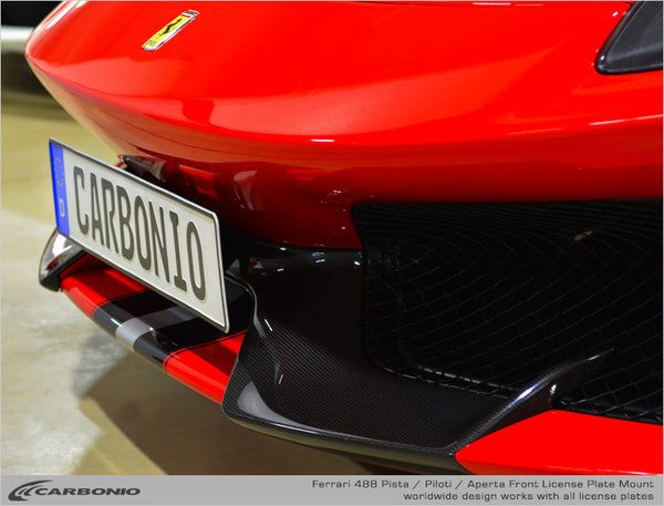 Ferrari 488 Pista License Plate Mount