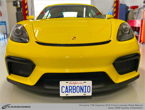 Porsche 718 Cayman GT4 No Drill License Plate Mount