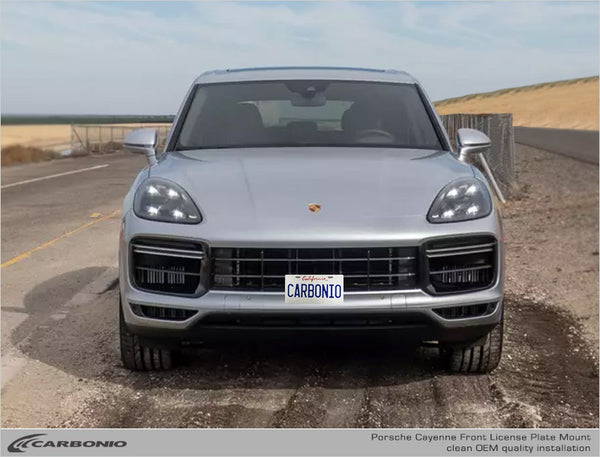 Porsche Cayenne No-Drill Front License Plate Mount
