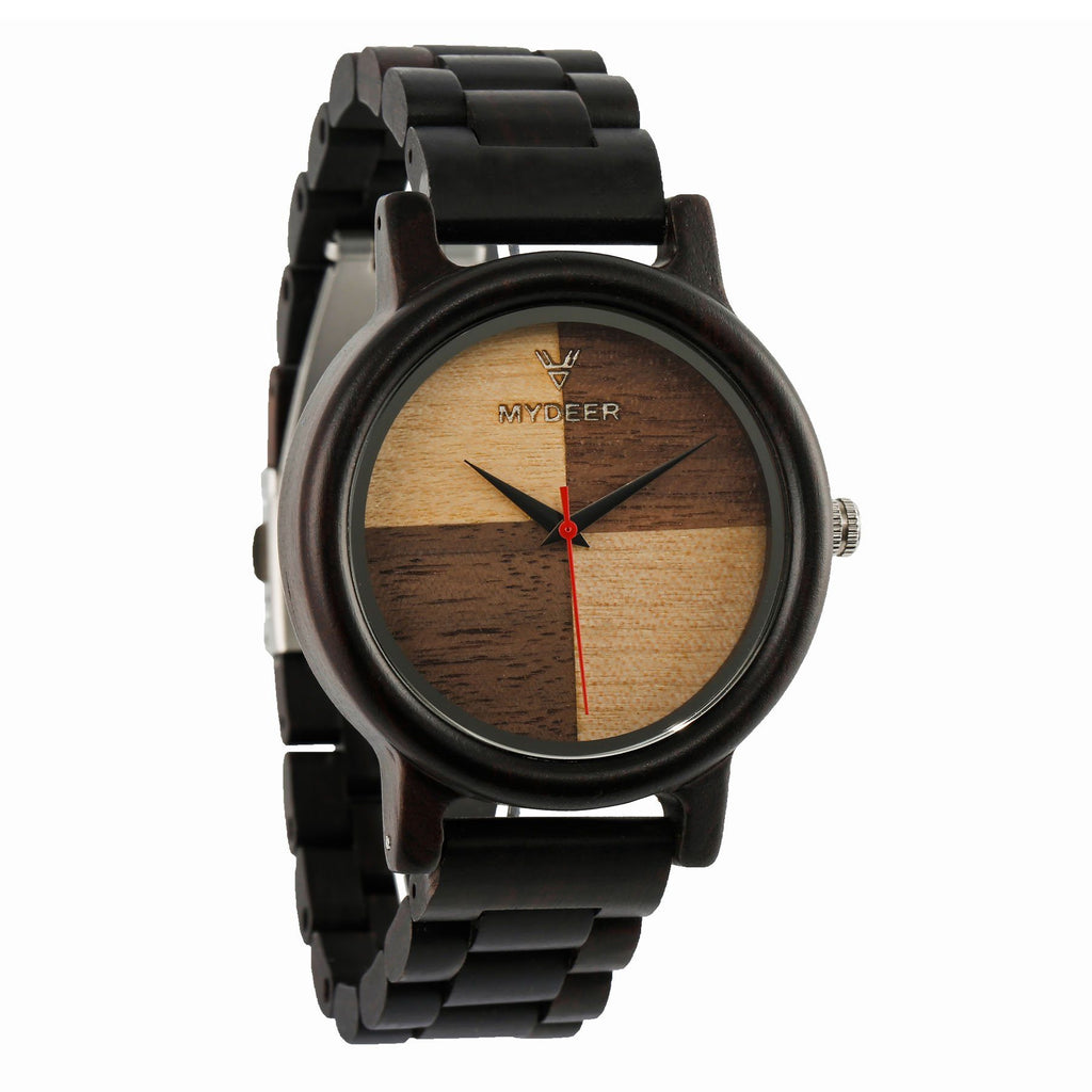 Ebony Colors Mix 07N - Wood watches by Mydeer | Engraved Handmade wood and bamboo watches